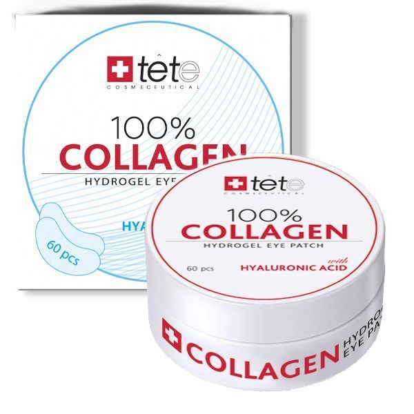 TETe Cosmeceutical, 100% Collagen Hydrogel Patch, 60 шт